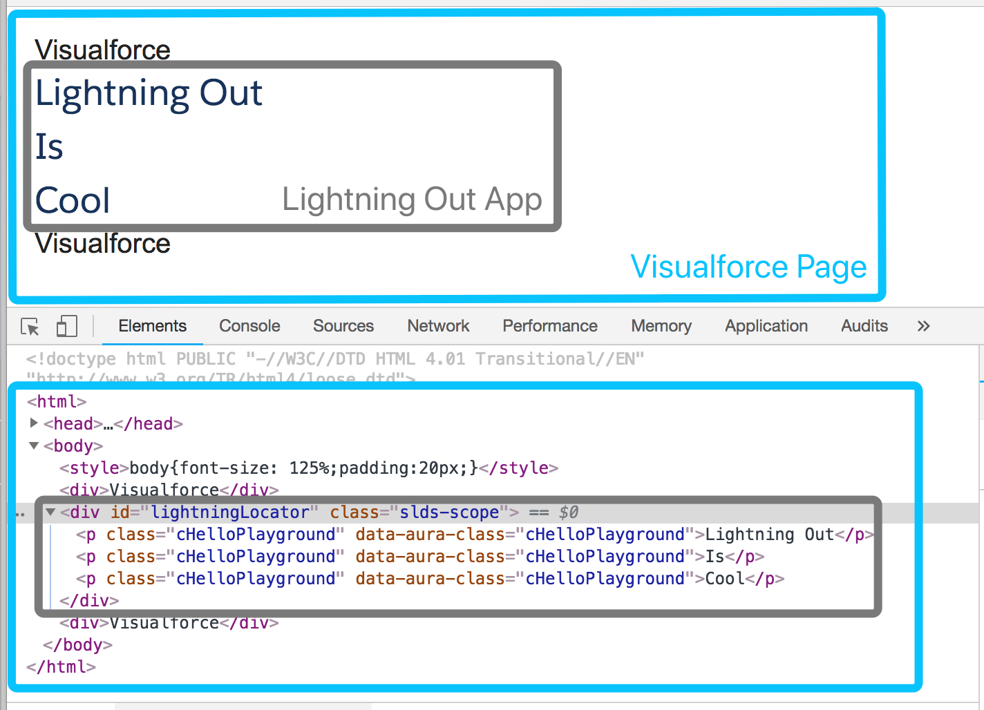 How to add a Lightning Component to a Visualforce page